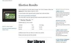 Capture Election page