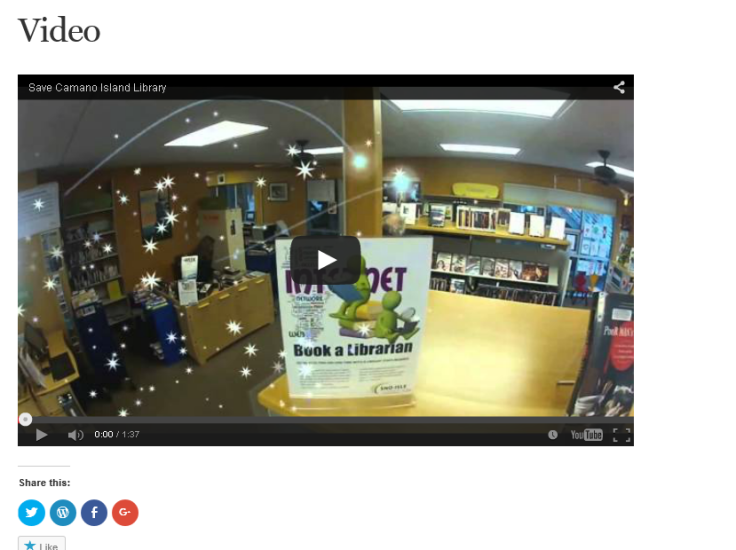 Capture Video of Camano Library Pilot