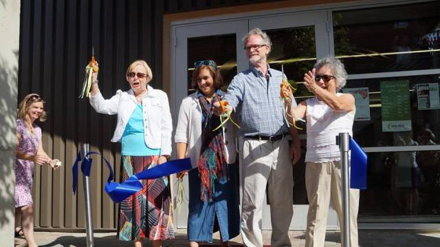 final cut of the ribbon for camano library grand opening day