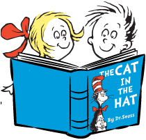 Picture1 cat in the hat reading book together